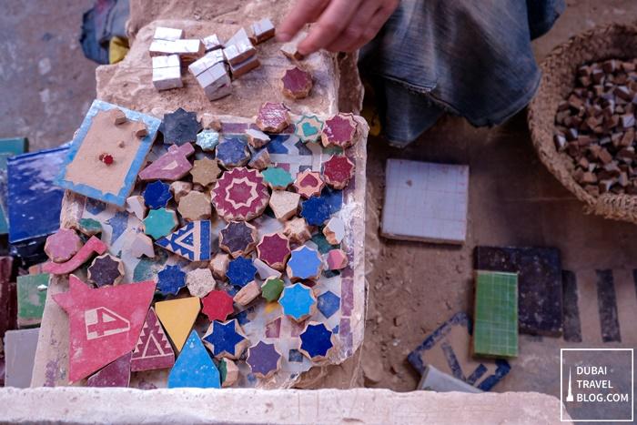 mosaic tiles fes morocco
