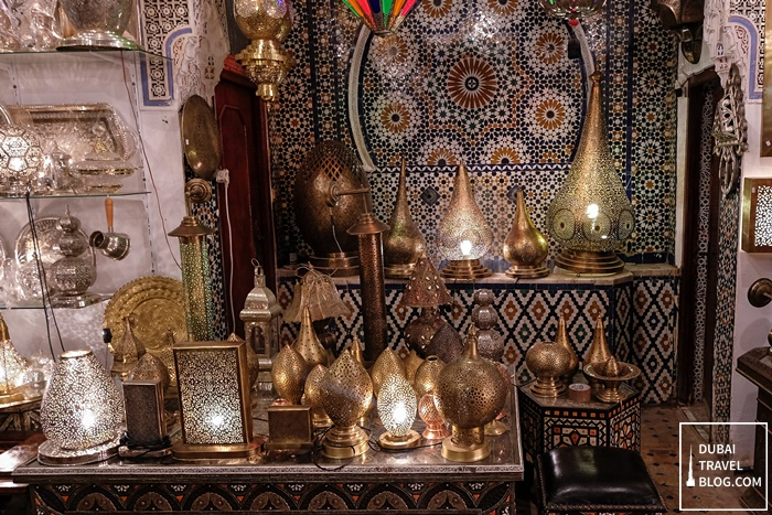 shop selling lamps fez morocco