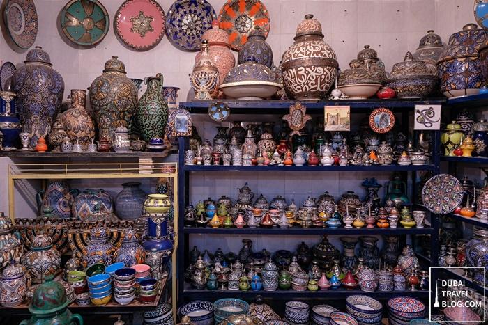 souvenir pottery shop fez morocco