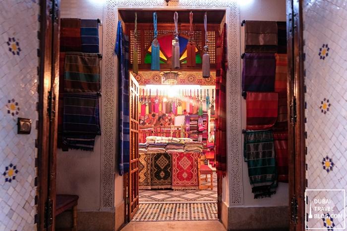 textile market in fez morocco