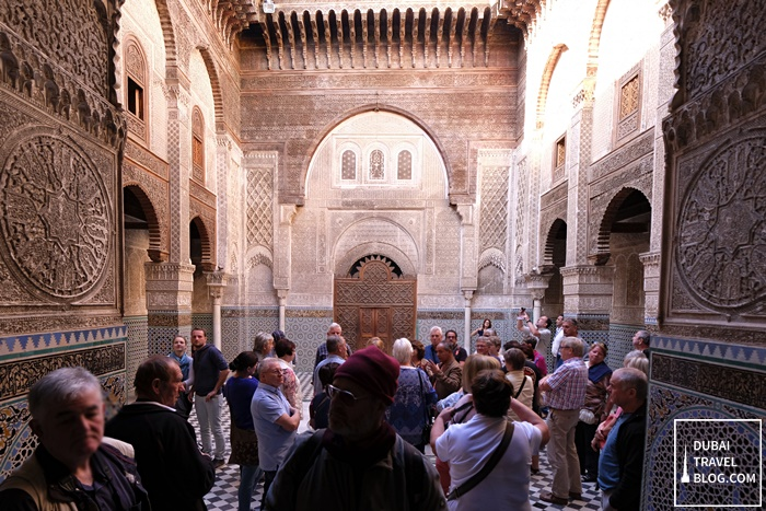 tourists al attarine madrasa