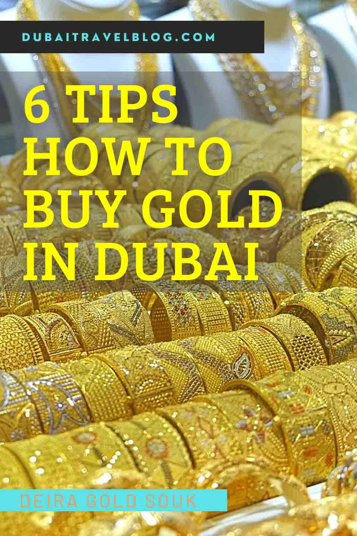 Gold Souk Dubai tips