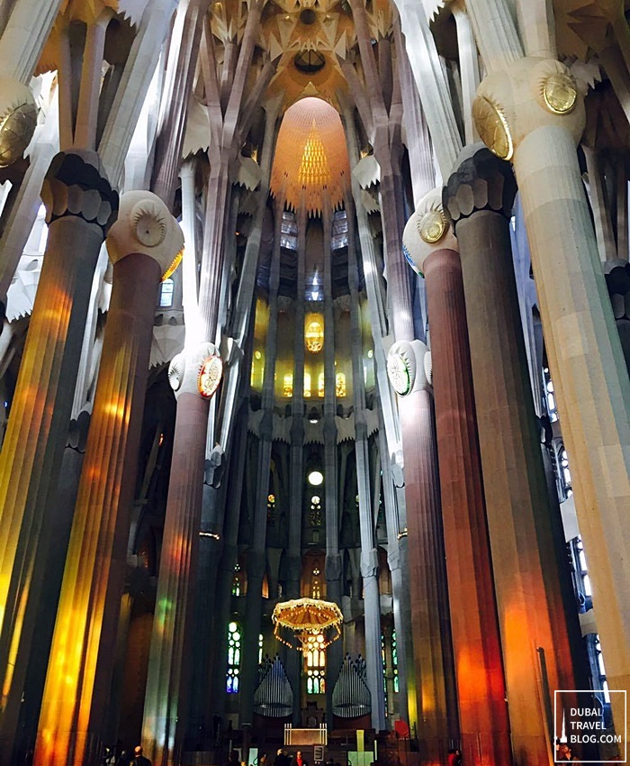 high ceiling la sagrada familia - spain