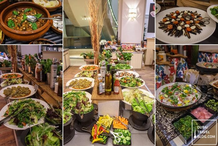 buffet at fountain restaurant movenpick bur dubai