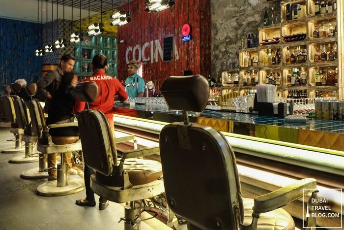 cubano lito bar counter dubai
