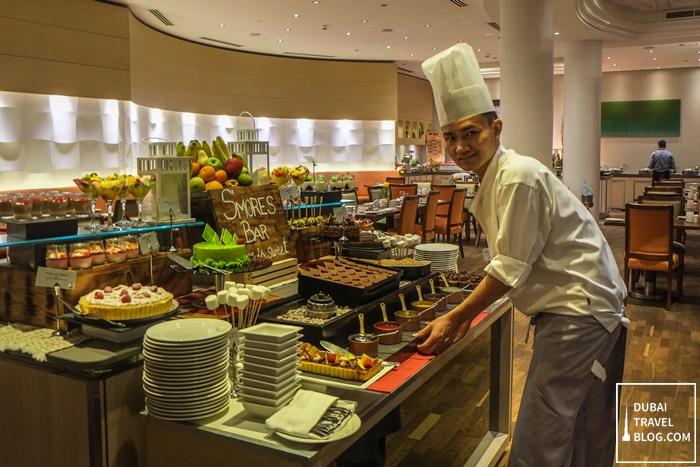 dessert station movenpick bur dubai fountain restaurant
