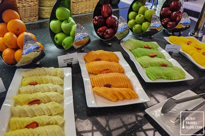 fresh fruits at corniche restaurant sofitel abu dhabi