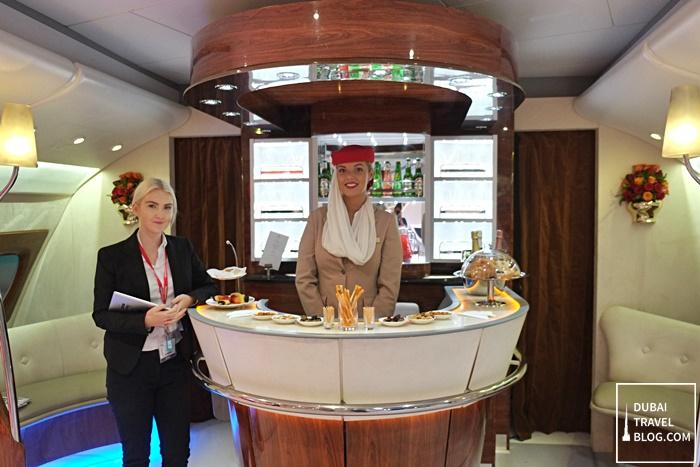 Emirates A380 Lounge replica