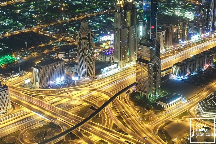 at the top view of dubai