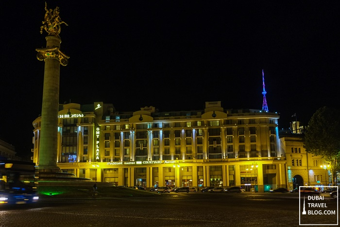 courtyard by marriott tbilisi night shot