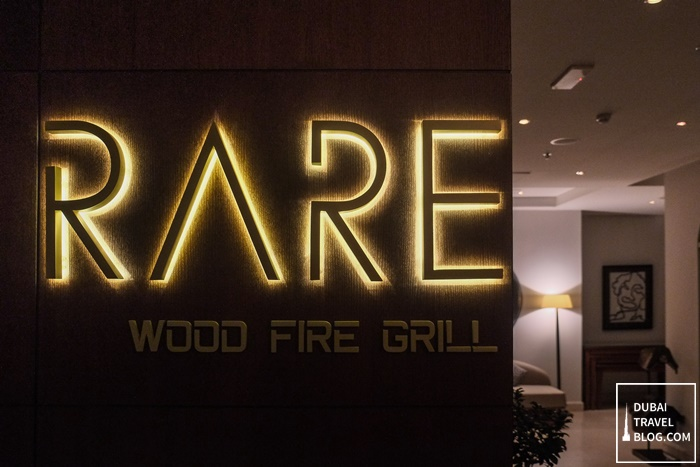 RARE Wood Fire Grill Steakhouse Dubai Desert Palm Resort