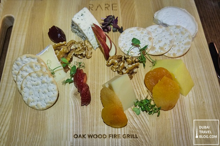RARE oak wood fire grill dubai cheeseboard
