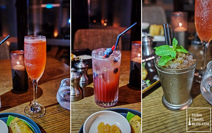 cocktail drinks at RARE restaurant dubai