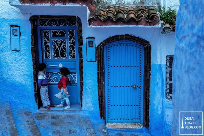 chefchaouen blue city morocco photo