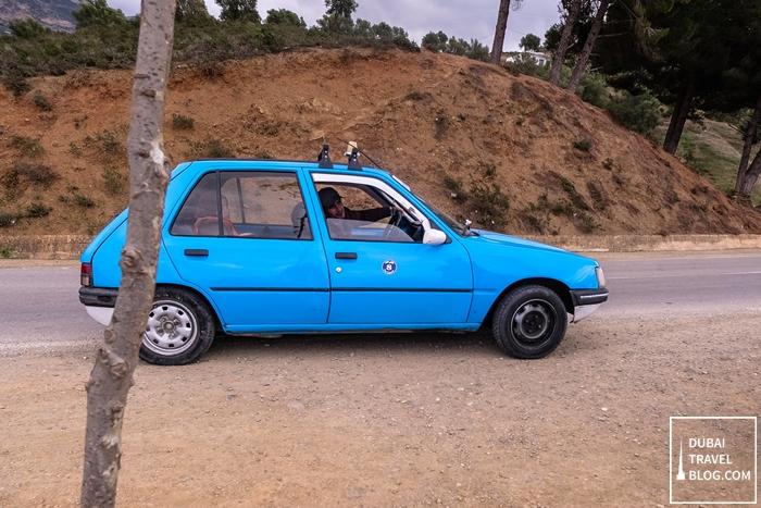 chefchaouen blue taxi