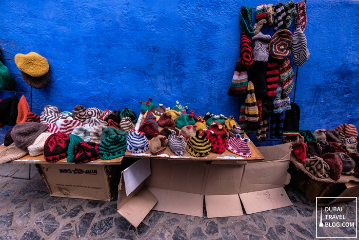 colorful hats and beanies in morocco