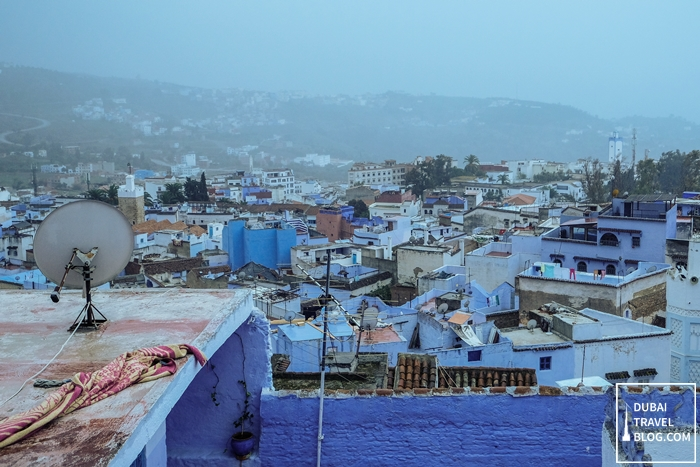 rooftop view chefchaouen morocco