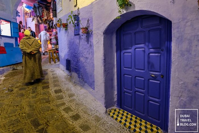 walking in chefchaouen morocco