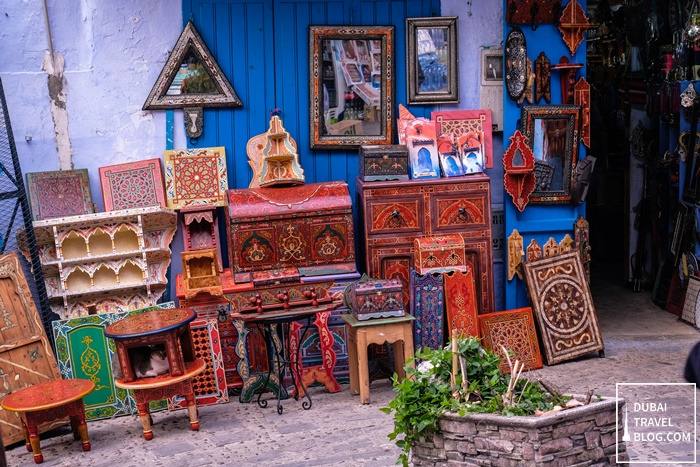 wood merchandise in chefchaouen