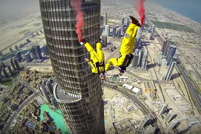 base jumpers burj khalifa