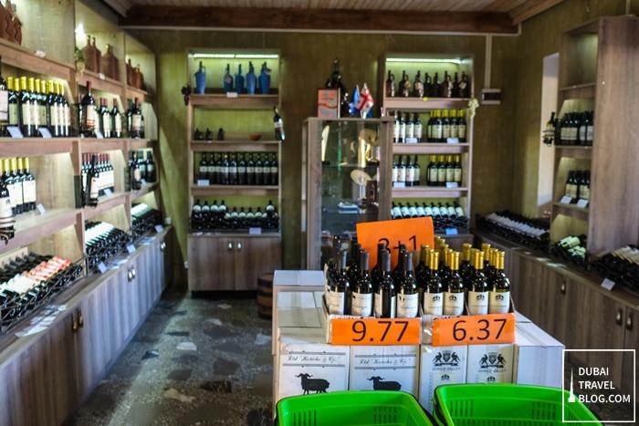 georgia wine shop in kakheti