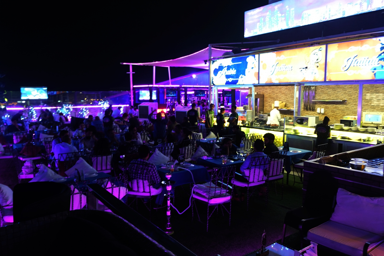 The Rooftop Lounge At Royal Ascot Hotel In Bur Dubai