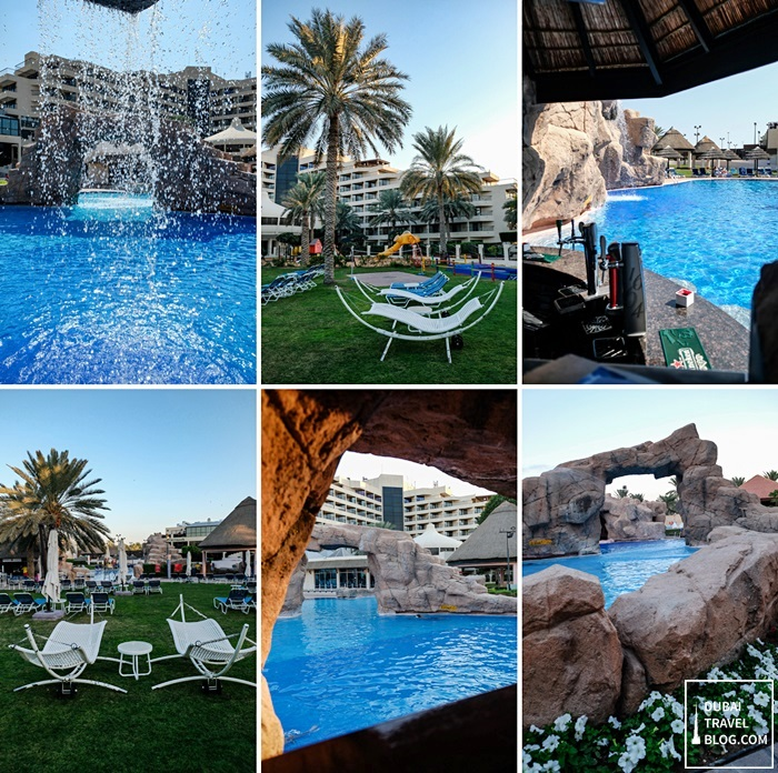 garden pool danat al ain resort