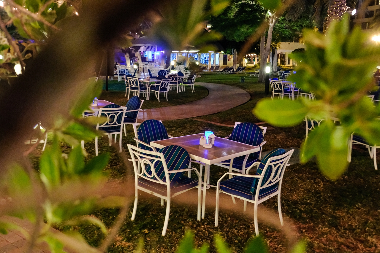 outdoor cafe danat al ain resort oasis