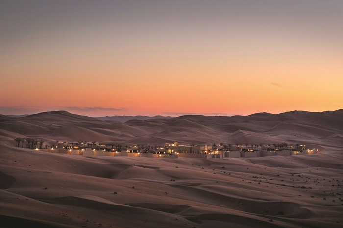 Qasr Al Sarab Anantara Royal Pavilion View RPV_H_EX-0000.Night
