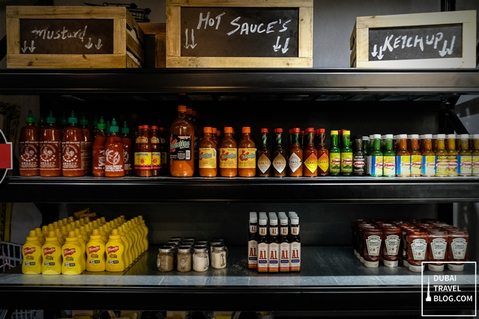 blaze burger condiments shelf