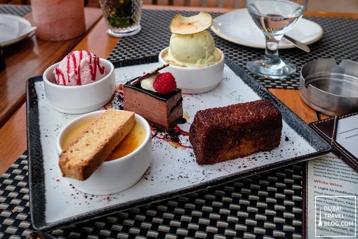 dessert platter the meat co dubai
