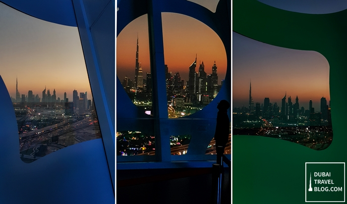 dubai frame view night skyline
