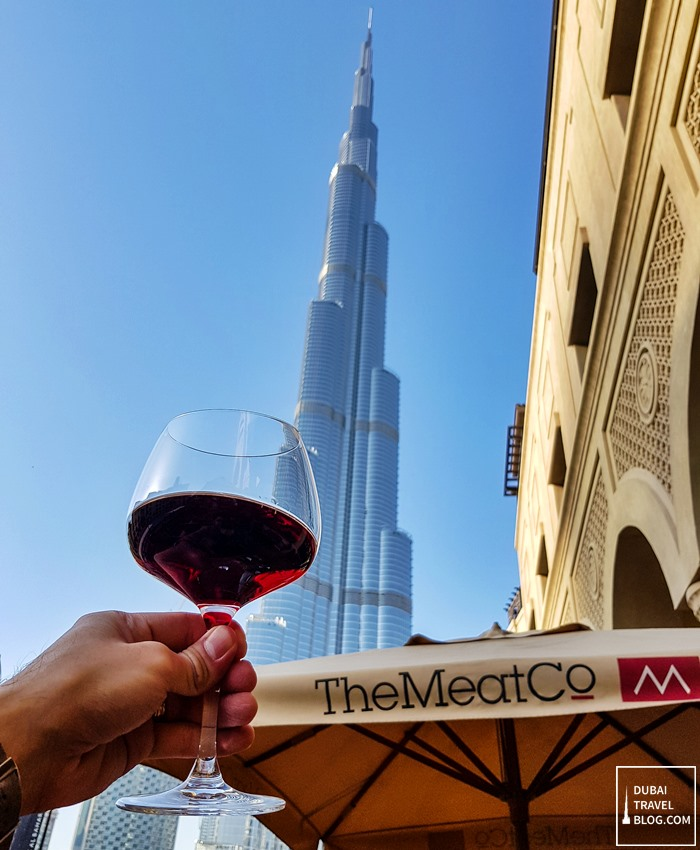 red wine cheers the meat co dubai