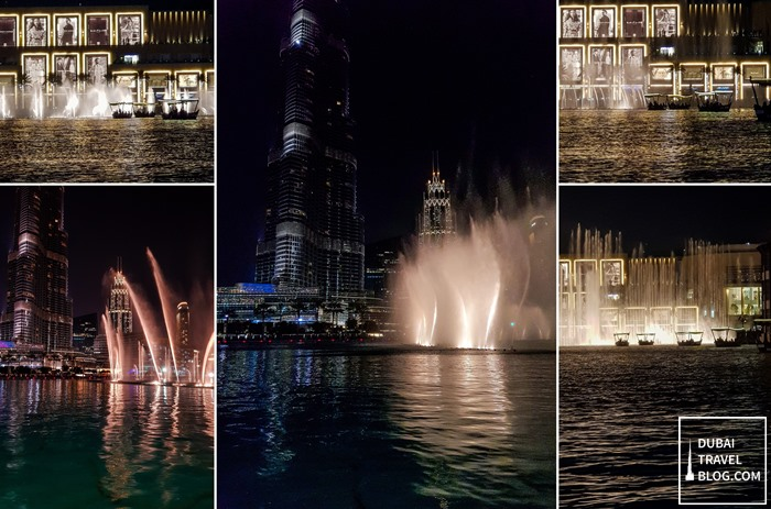 dubai fountain lake ride experience