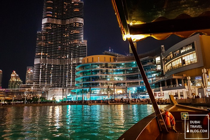 lake ride dubai fountain area