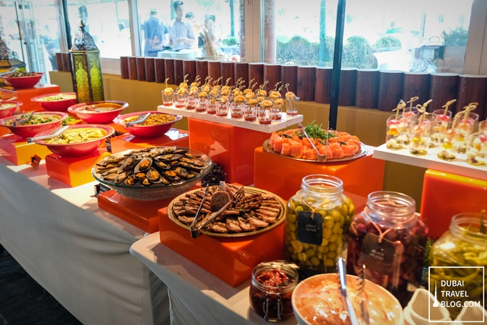 appetizers and salads station waves fujairah