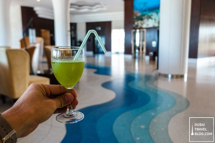 welcome drink danat jebel dhanna resort
