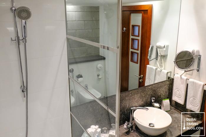 bathroom villa rotana hotel