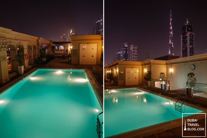 night swimming pool villa rotana