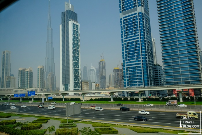 sheikh zayed road view