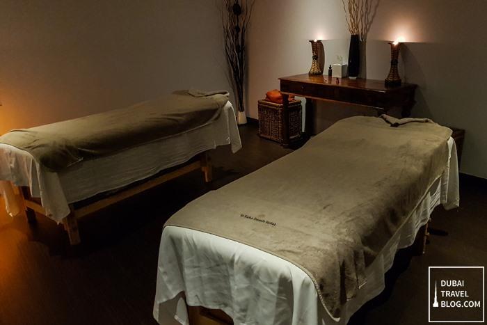 al raha beach hotel massage experience