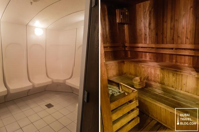 al raha beach hotel steam sauna