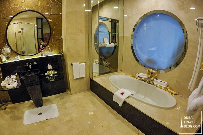 bathroom al raha beach hotel