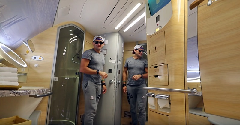 casey neistat shower emirates airlines