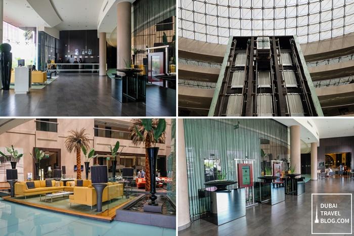 lobby of centro sharjah hotel