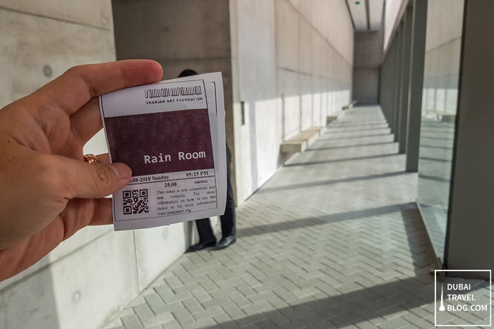 rain room ticket sharjah