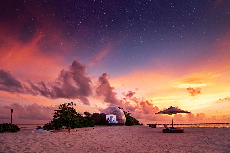 Finolhu, Maldives launches Beach Bubble Tent