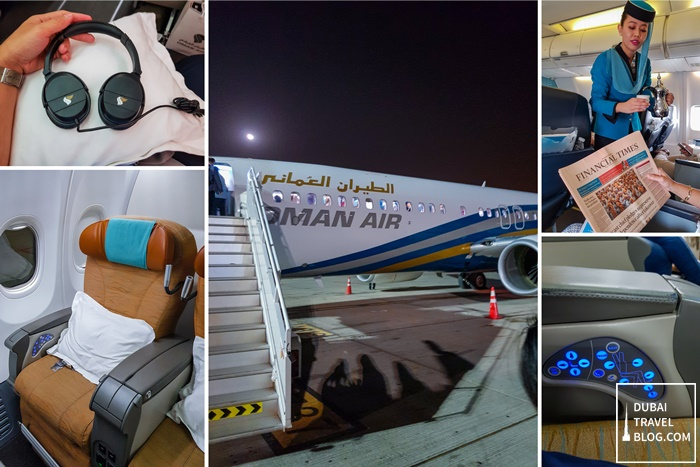 Oman Air flight business class