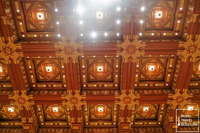 ceiling of opera house in muscat oman