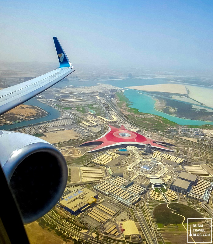 flying with oman air view abu dhabi